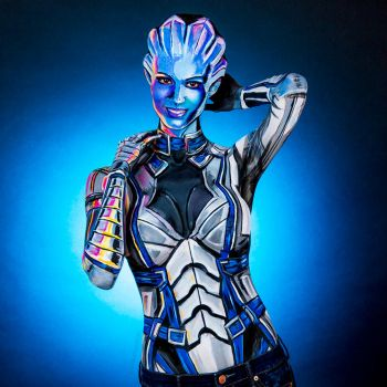 Liara Bodypaint by KayPikeFashion
