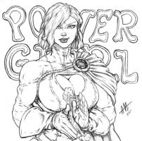 Powergirl once more by toegar