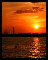 Anclote Lighthouse Sunset 1 of 4 by WatchTower513