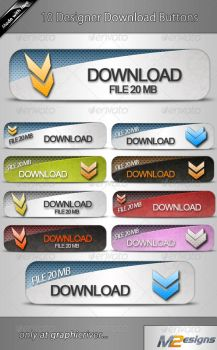 10 Download Buttons by m2-Designs