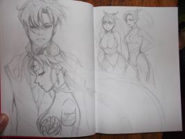 Sailor Moon Dark World scetch by HaloBlaBla