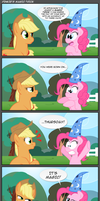 Pinkie's magic trick by gonedreamer