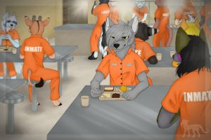 Commission: Prison Canteen by Kaiguu