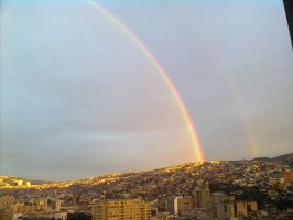 Its a rainbow over Valparaiso! by vmxk