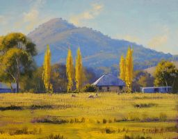Australian Sheep Farm by artsaus