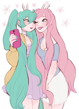 selfie by snownymphs