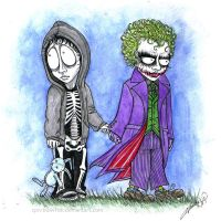 Donnie Darko and The Joker by cpn-blowfish
