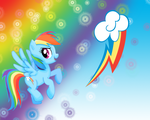 MLP: Rainbow Dash Wallpaper by Togekisspika35