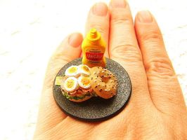 Sandwich Mustard Ring by souzoucreations