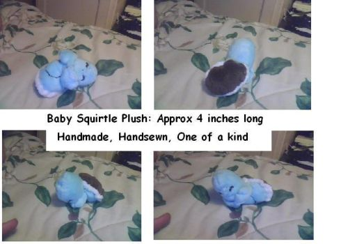 One of a kind handsewn Baby Squirtle Plushie! by leeleechan13