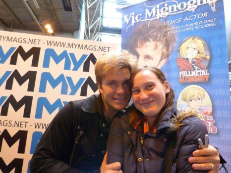 me meeting Vic Mignogna for a second time by emopuppy07