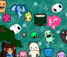Photoshop Doodle Ipod Wallpaper by gigibecker