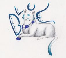 Blue the cat by red-sunfox