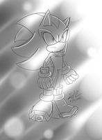 OHS: Shadow in greyscale by ShadowReaper12