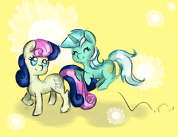 Bon Bon and Lyra Love by ChiuuChiuu