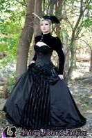 Dark Enchantment - Black Gothic Ballgown by DaisyViktoria