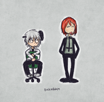 Stein and Spirit Chibis by rockinrobin