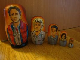 Back to the Future Nesting Dolls by bachel60