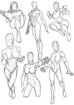 Rob Anatomy Sketchbook Girls by Bambs79