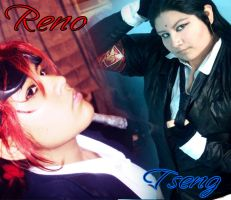 Reno and Tseng  cosplay by itajez009