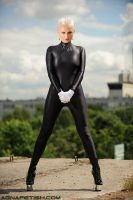 Black Spandex Catsuit 08 by AgnaDevi