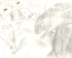Toothless Lost - Pencil Drawn - No Reference by lilgerndt
