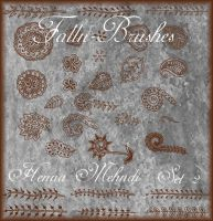 Henna Mehndi Brushes Set 2 by Falln-Brushes