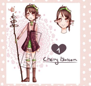 [closed] Adopt 1 - Cherry blossom by colourful-unicorn