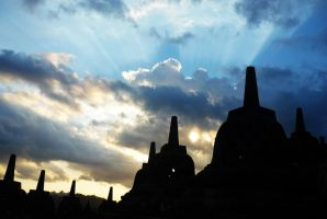 Sunset at Borobudur Temple by neoxavier