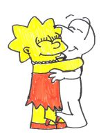 Lisa Simpson hugs Fone Bone by SuperMarcosLucky96