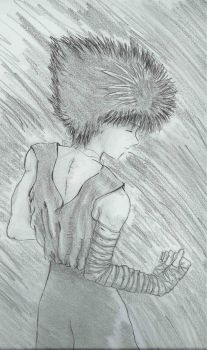 black and white hiei by rahel14