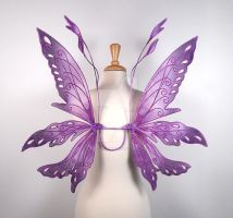 Mini Posie Fairy Wings in Purple by glittrrgrrl