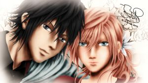 Cute Lightning and Noctis by SerenaKaori87
