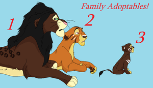 Family Lion Adopts by BlackWolf1112-ADOPTS