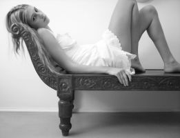White dress: bed-settee by LadybirdM