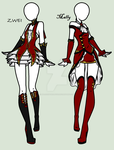 Grim Tales: Devils Fear - Mally And Zwei's Outfits by MaliceInTheAbyss
