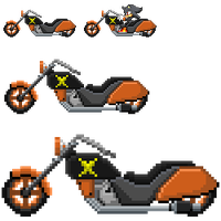 Hypon SaSASR Motocycle Sprite by LucarioShirona