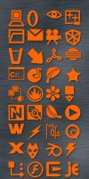 Orange Icon Set by enci