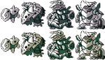 Aron Family GSC Sprites by Axel-Comics