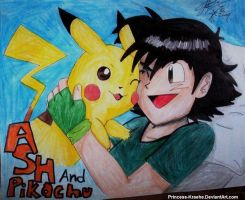 ..::Ash And Pikachu::.. by Princess-Kraehe