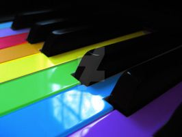 Piano Rainbow by MercysMelody