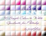 Simple colour-white gradients by purplefeen