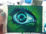 small oil eye by clearfishink
