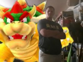 Me and Bowser by nightandkai