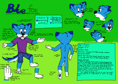 Bluefox Reference Sheet by goodaustin