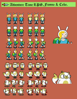 Adventure Time RPG: Fionna and Cake by tebited15