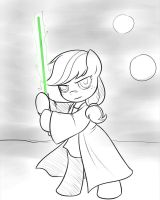 Sketch: Jedi Jack by drawponies