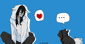 Jane Neko y Jeff the Killer by allison1205