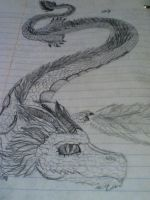 Chinese Dragon Sketch by genericwolfname