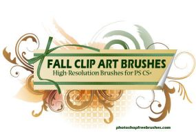 Fall Clip Art - PS Brushes by fiftyfivepixels